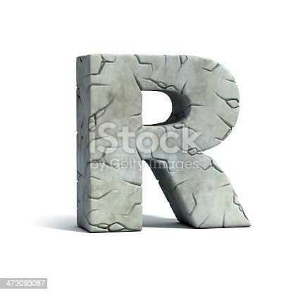 istock letter R stone 3d font 472093087