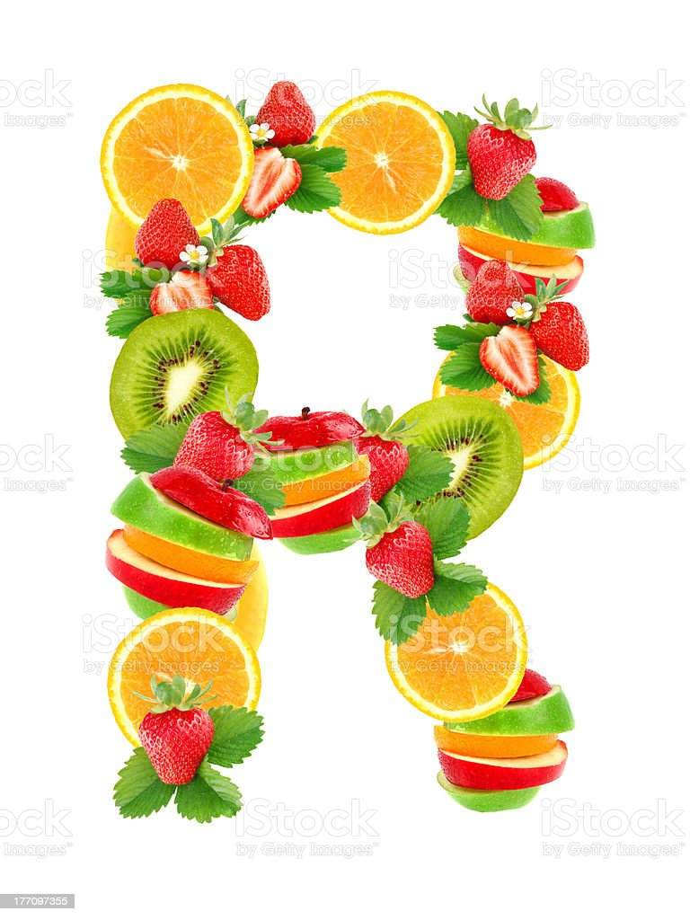 letter r with fruit stock photo more pictures of alphabet istock