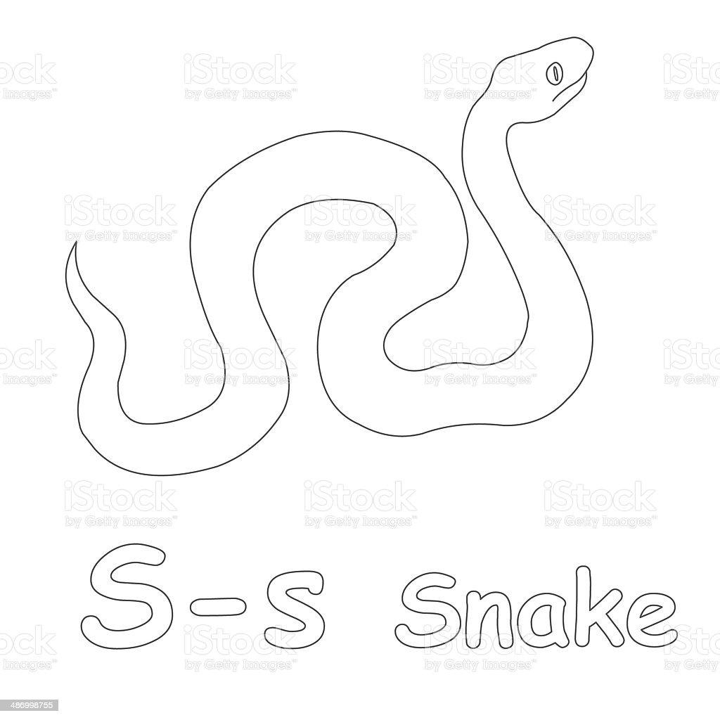 Letra S Para Colorear Página De Serpiente - Fotografía de stock y ...