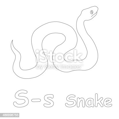 letter s snake coloring page letter s is for snake coloring page