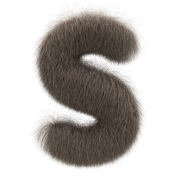 Letter S from fur alphabet stock photo