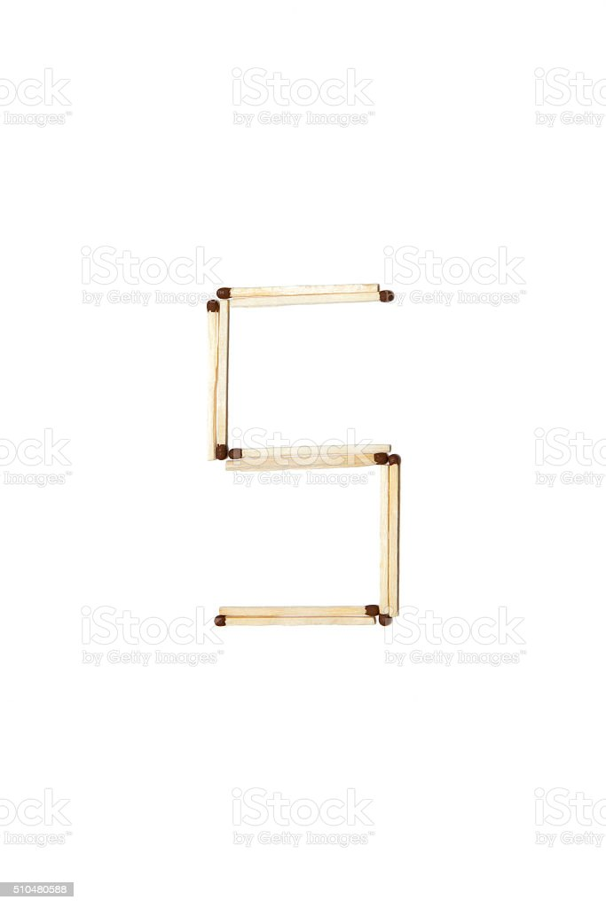 Letter Made Out Of Objects.Letter S Made Of Safety Match Stock Photo Download Image Now Istock
