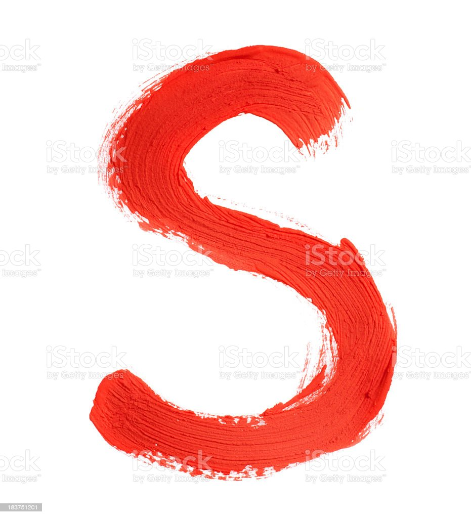 Letter S stock photo