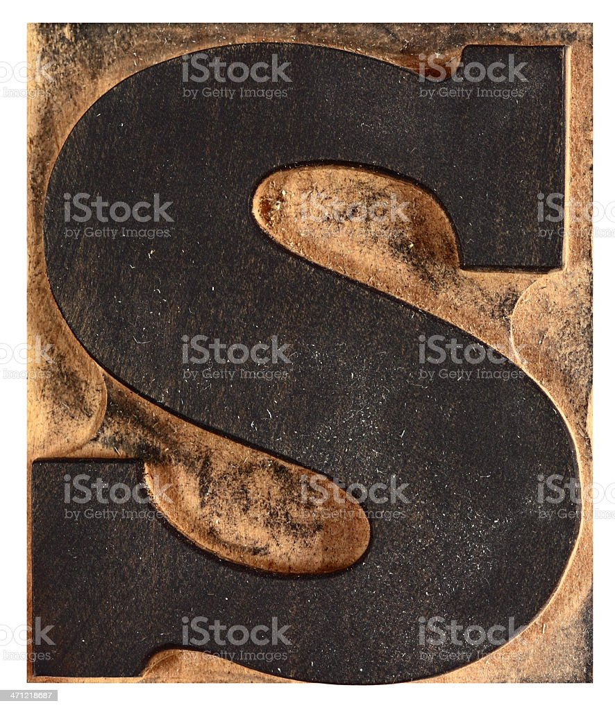 Letter 'S' royalty-free stock photo