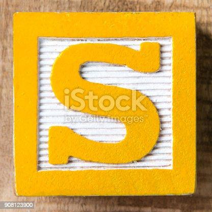 istock Letter S 908123900