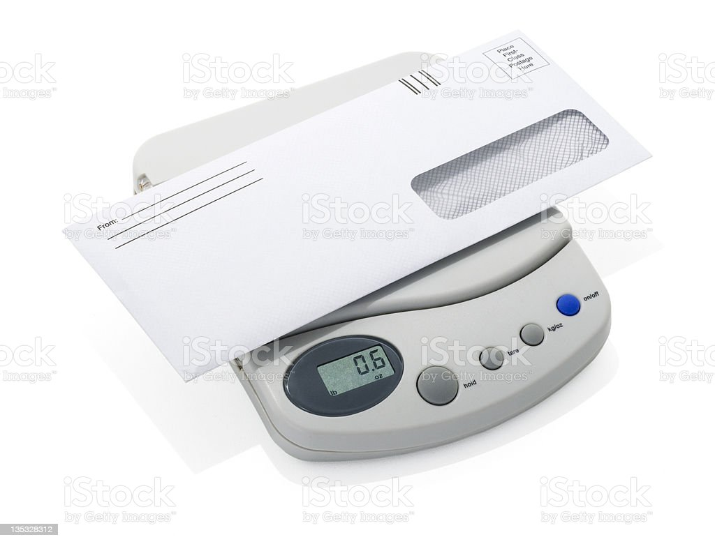 Letter & Scale stock photo