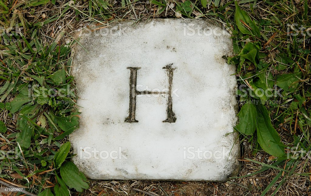 H - Letter Series royalty-free stock photo