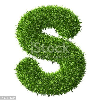 istock Letter Sof grass 497416294