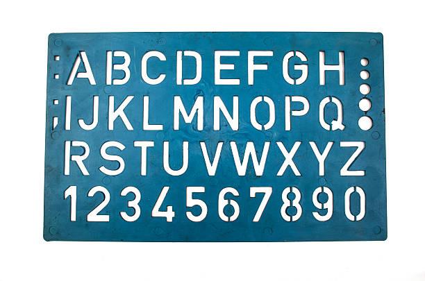 Lettere stencil - foto stock