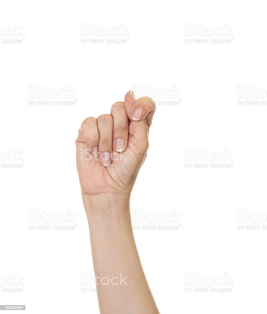 Letter T in American Sign Language royalty-free stock photo