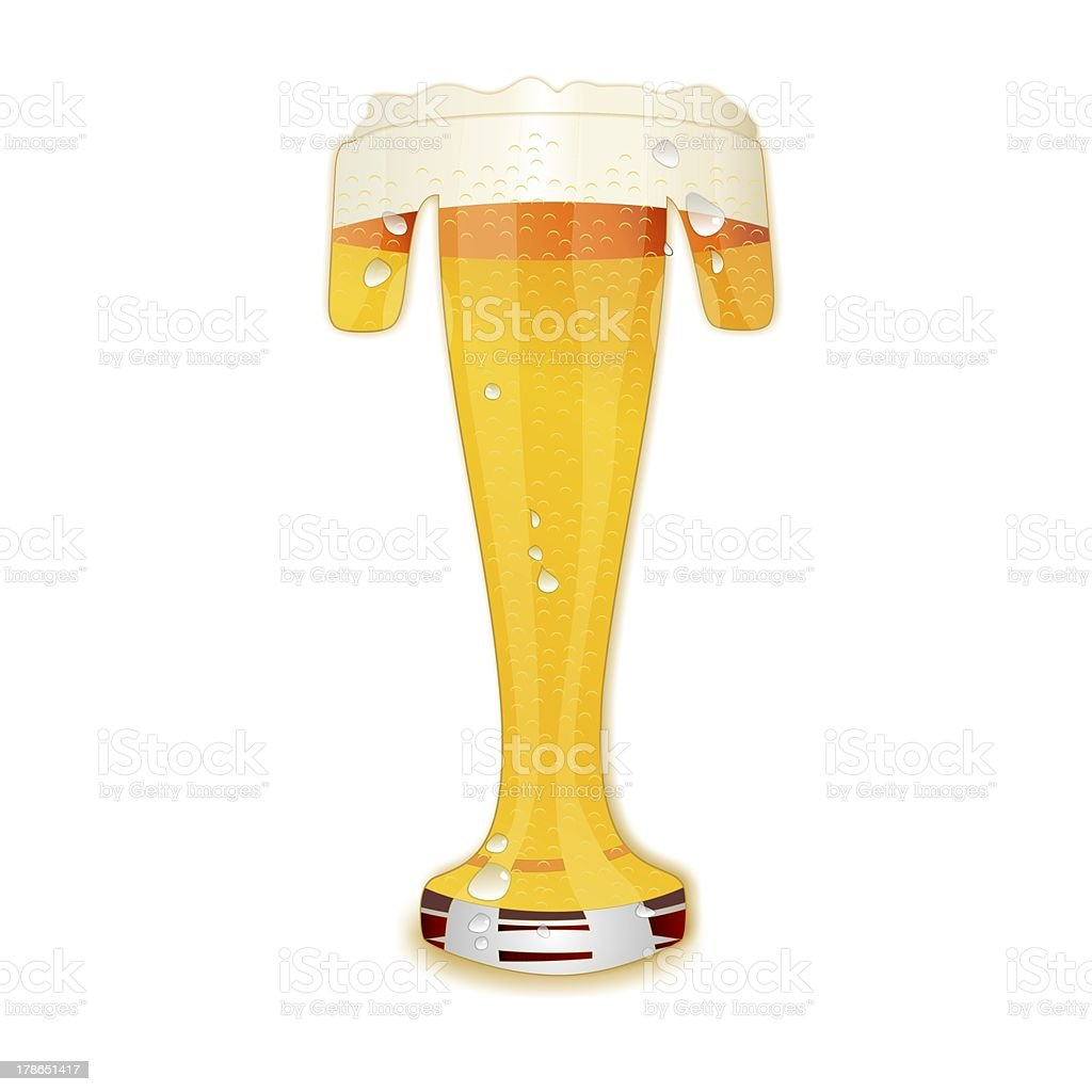 BEER ALPHABET letter T stock photo