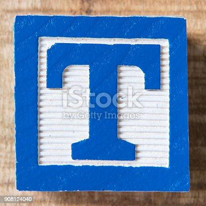 Alphabet Block Letter T