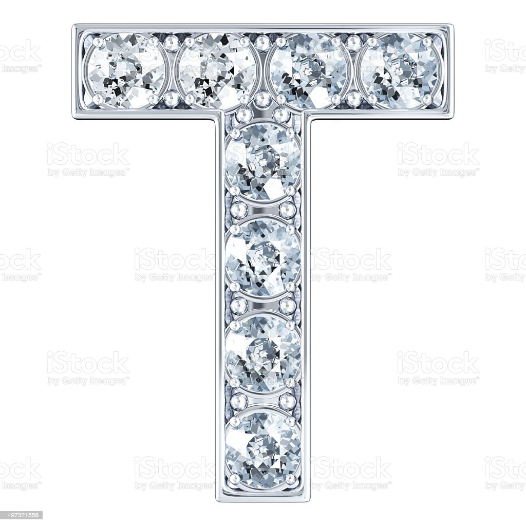 Lettre T: Letter T With Diamonds Stock Photo & More Pictures Of 2015