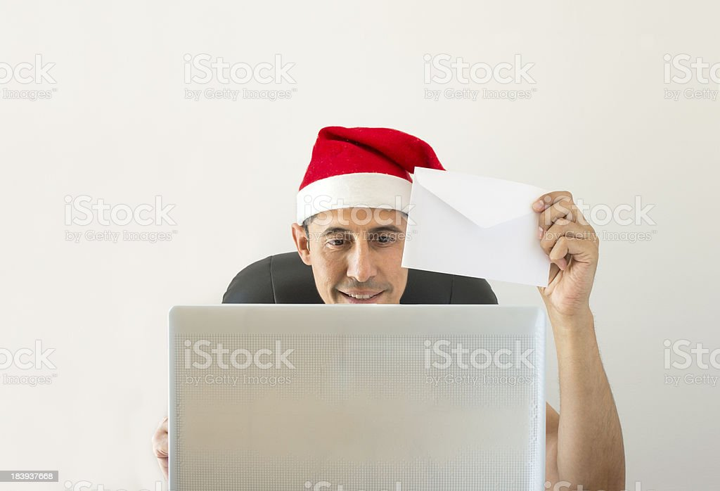 letter to congratulate christmas online royalty-free stock photo