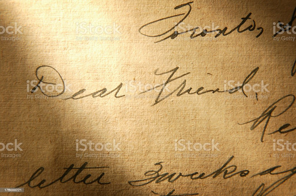 Letter to Friend royalty-free stock photo