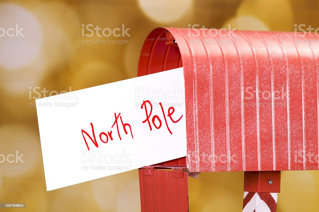 Letter to North Pole stock photo