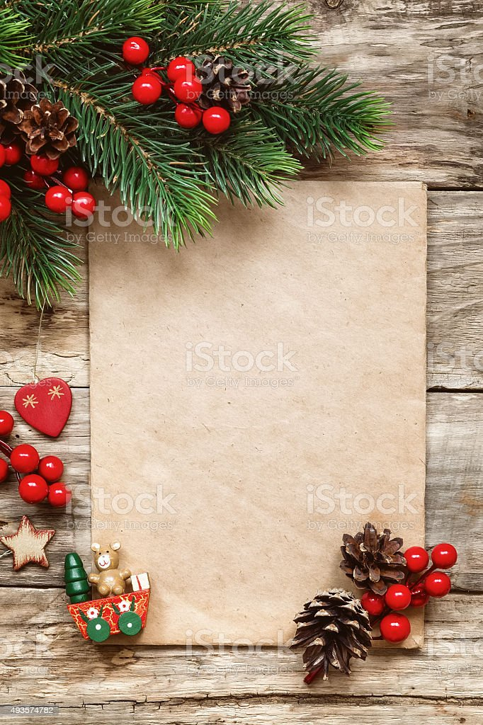 letter to santa stock photo