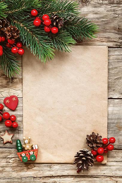 brief an den weihnachtsmann - weihnachts wunschliste stock-fotos und bilder