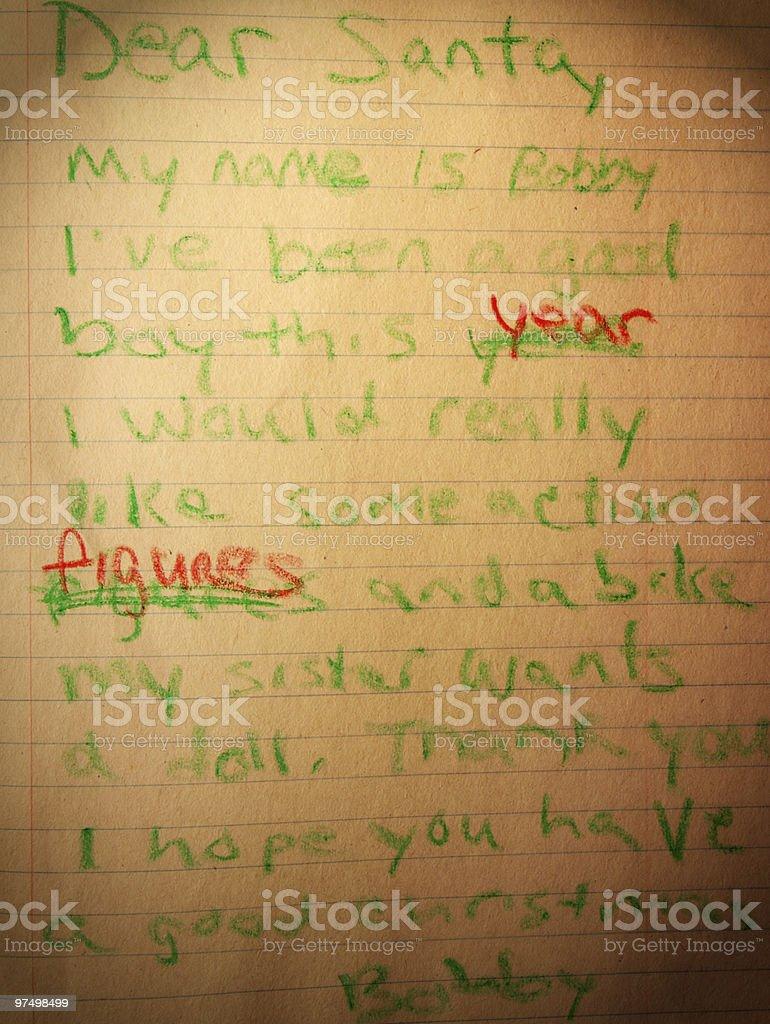 Letter to Santa royalty-free stock photo