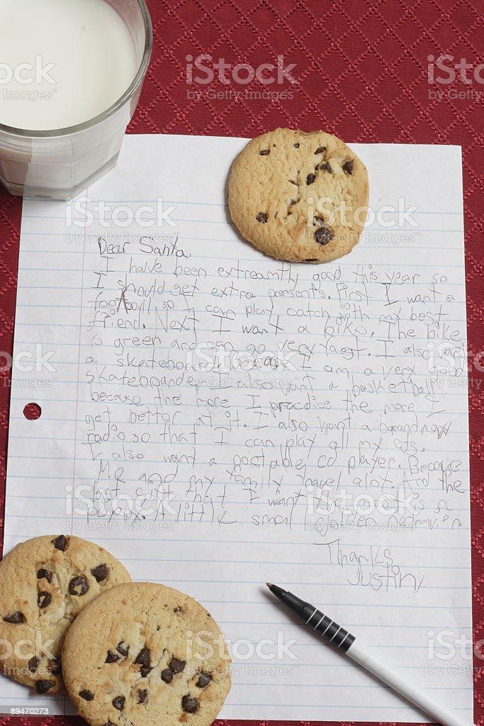 Carta a Santa. Vertical de imágenes foto de stock libre de derechos