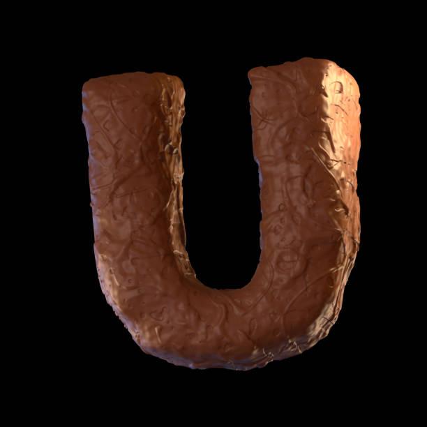 letter u| - schokolade typografie stock-fotos und bilder