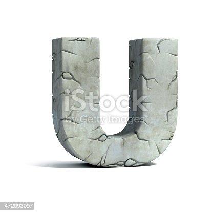 istock letter U stone 3d font 472093097