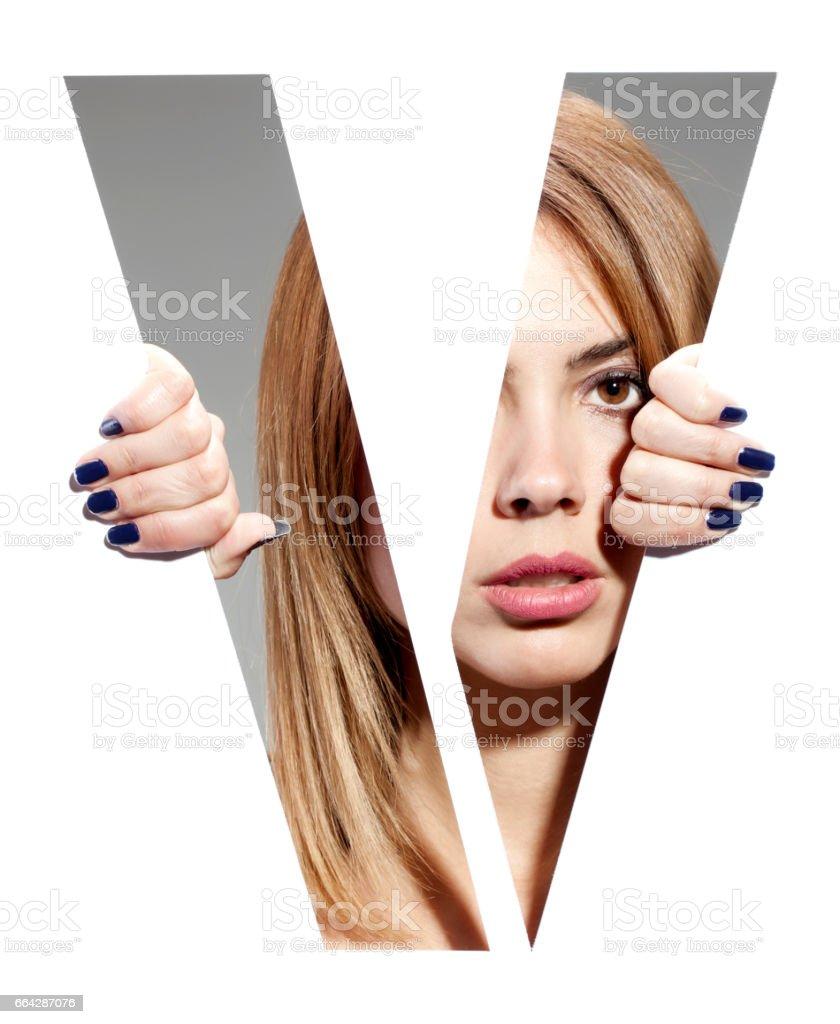 retrato femenino de la letra