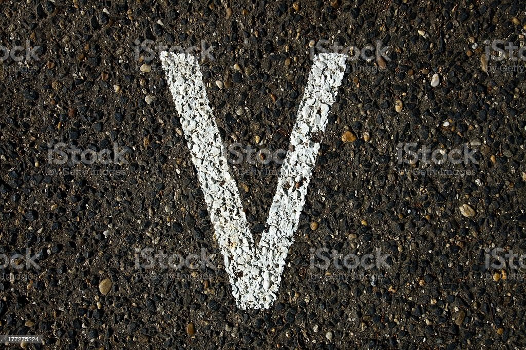 Letra V - foto de stock