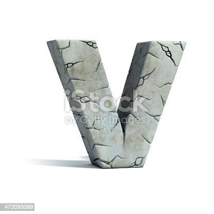 istock letter V stone 3d font 472093099
