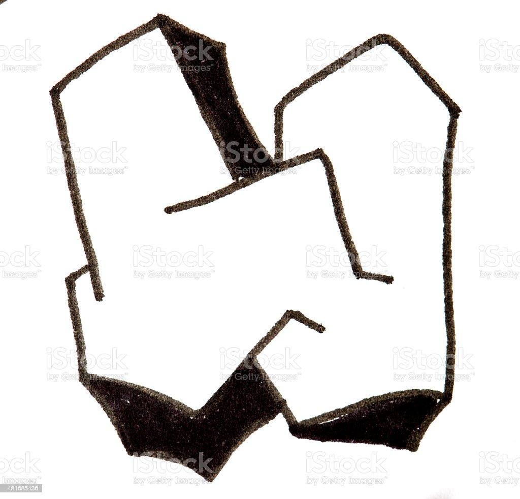 Lettre w de lalphabet dans un style graffiti stock photo libre de droits 481685436 istock - Lettre graffiti alphabet ...