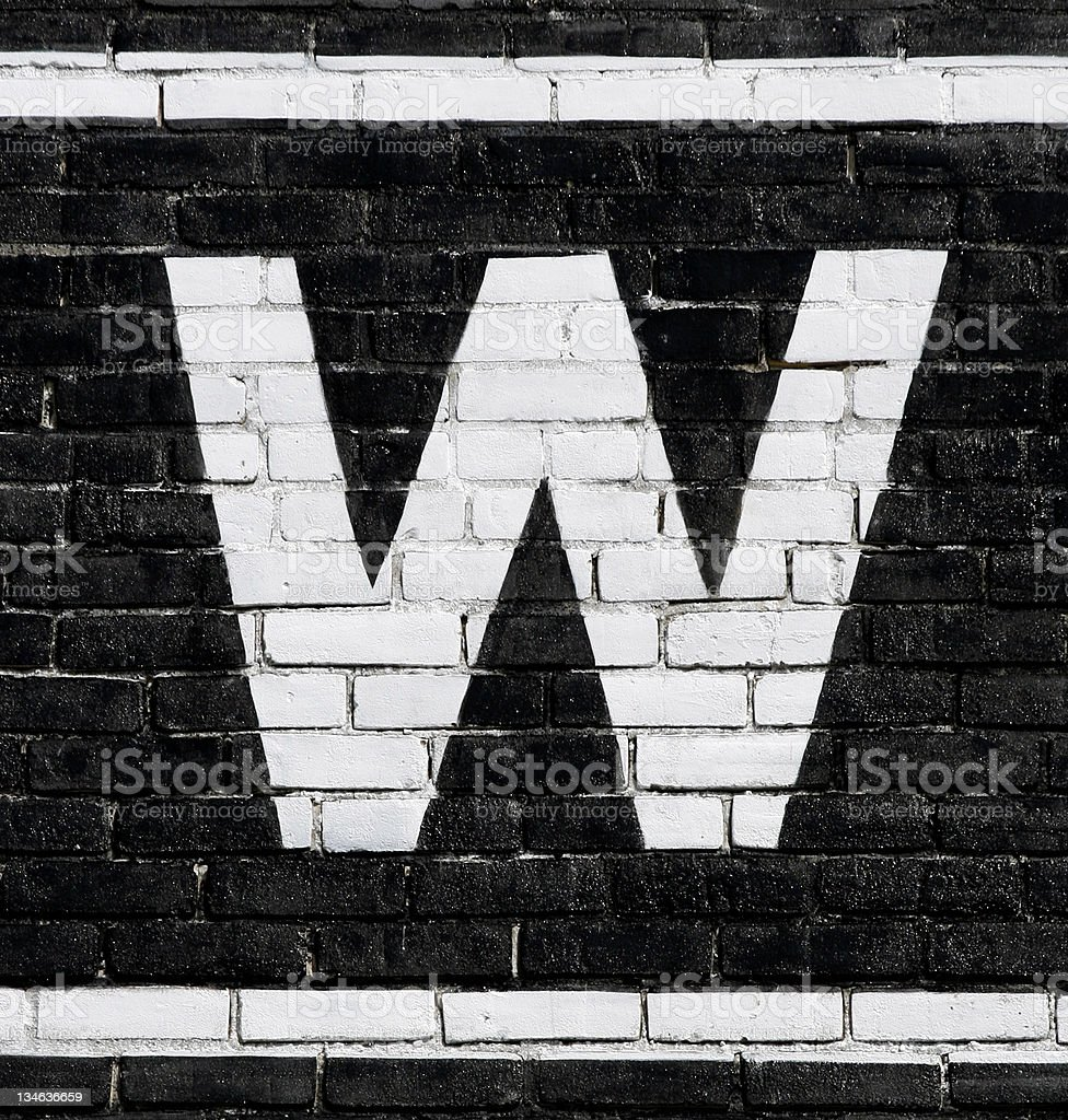 Letter 'W' stock photo
