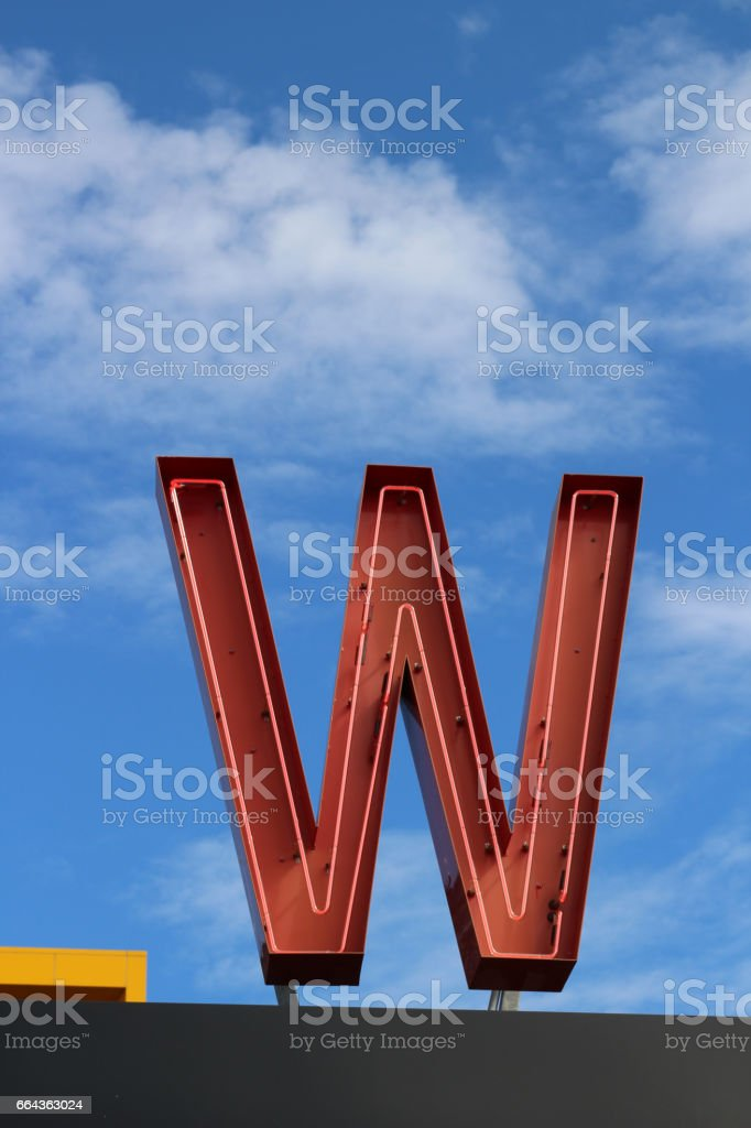 Letter W stock photo