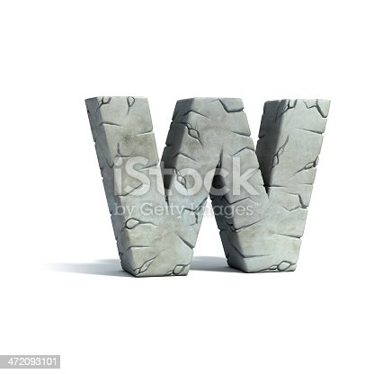 istock letter W stone 3d font 472093101