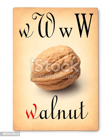 Walnut. Image made with a my walnut photo.