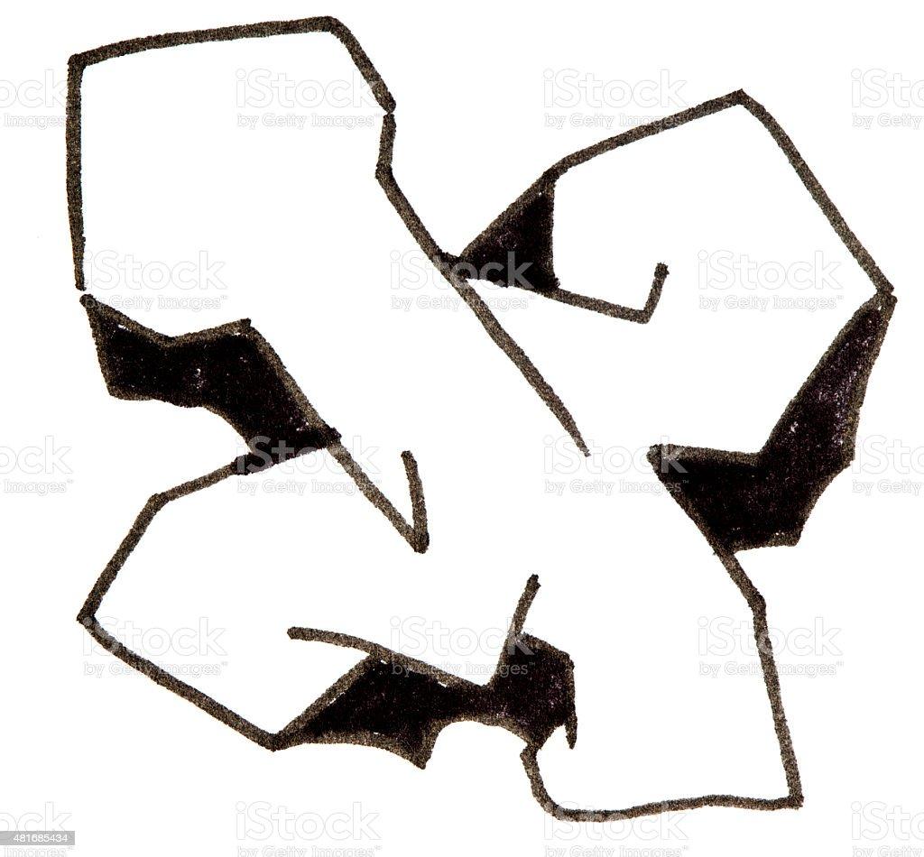 Litera X Alfabet W Stylu Graffiti Stockowe Zdjęcia I Więcej