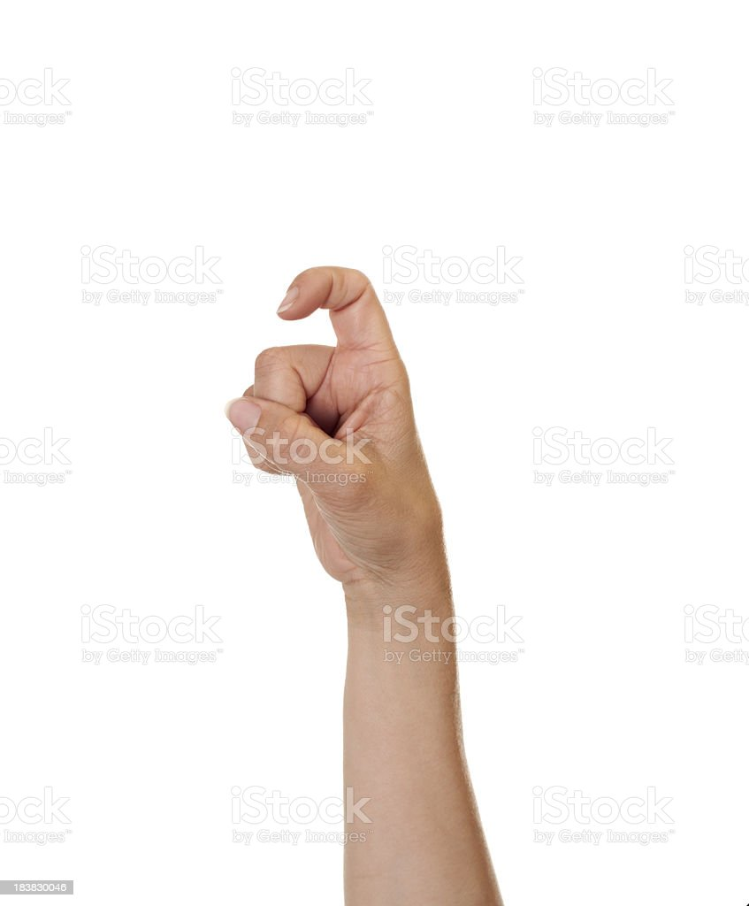 Letter X in American Sign Language royalty-free stock photo