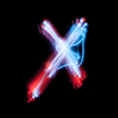 istock Letter X the alphabet made from neon signs 1070722586
