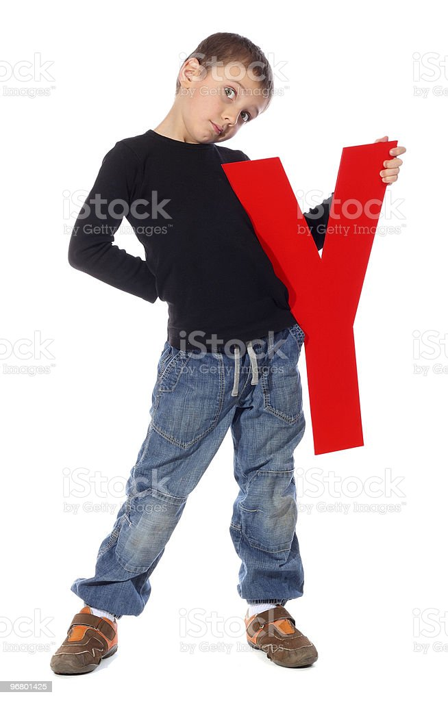 Letter 'Y' boy royalty-free stock photo