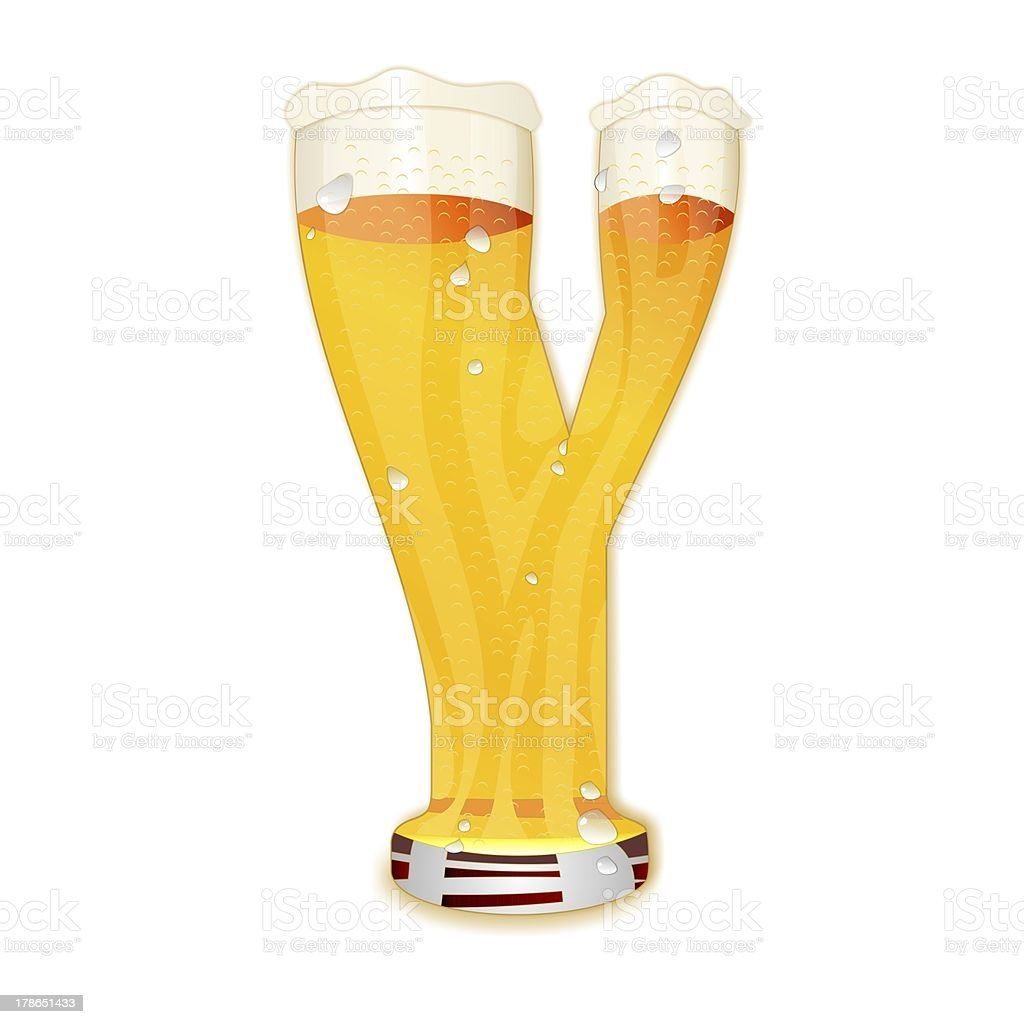 BEER ALPHABET letter Y stock photo