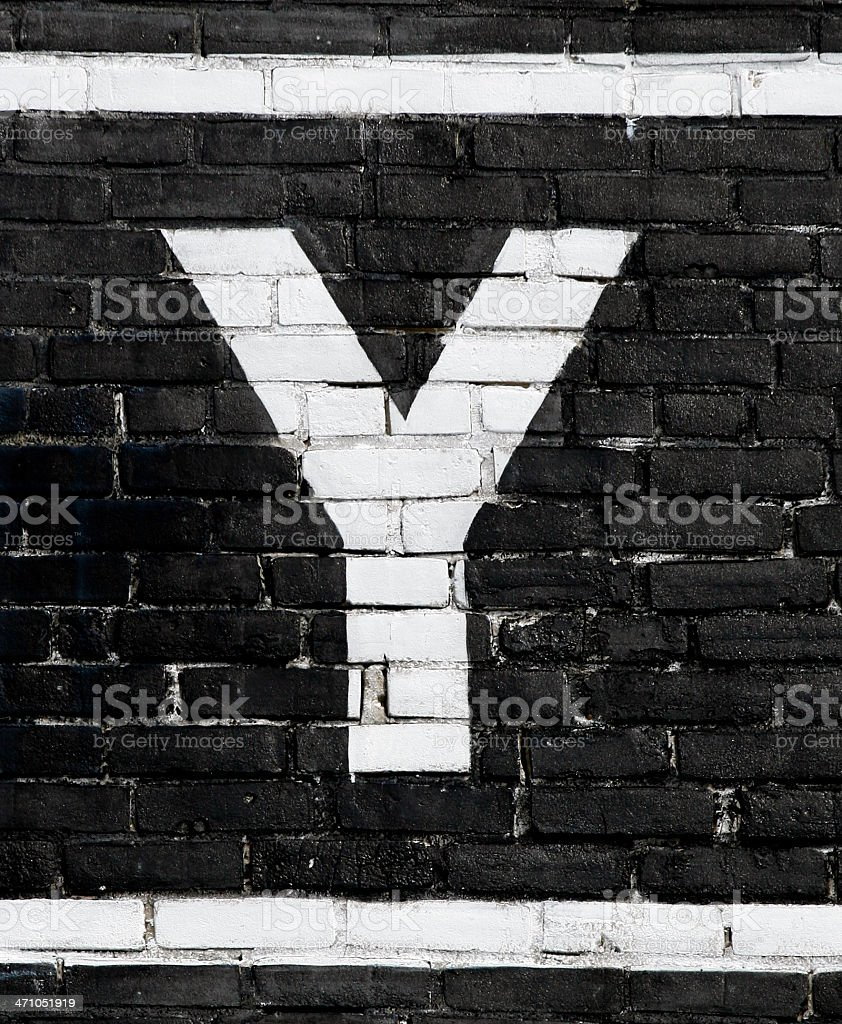 Letter 'Y' royalty-free stock photo