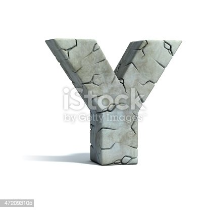 istock letter Y stone 3d font 472093105