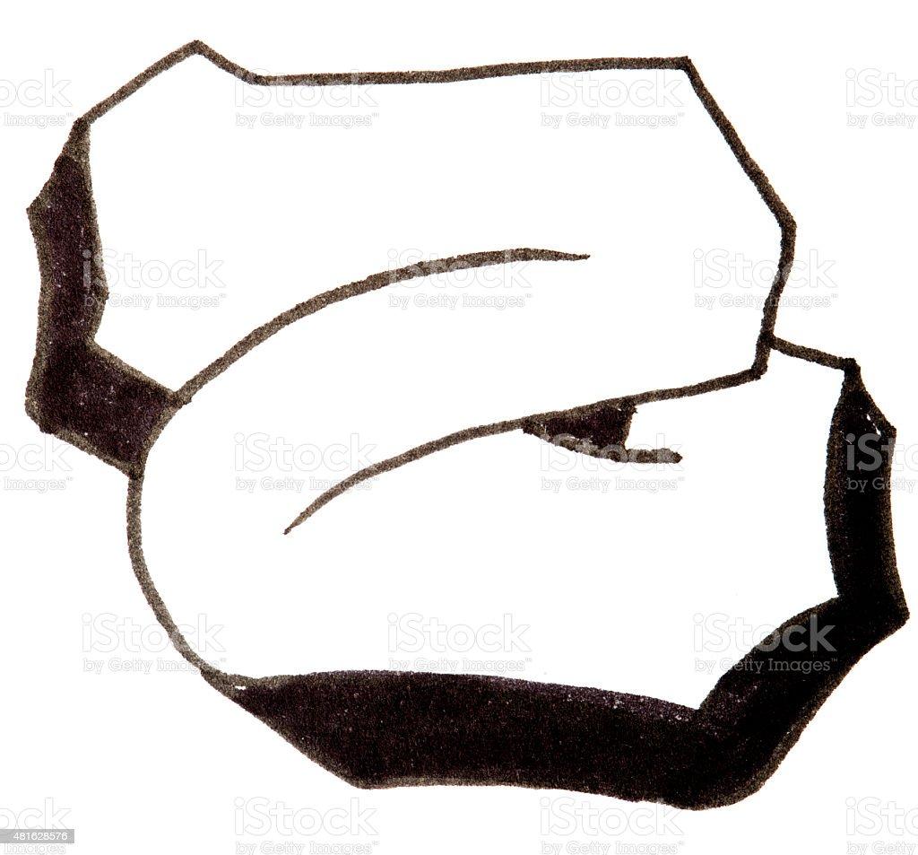 Alfabe boya mektup belge yazı z harfi