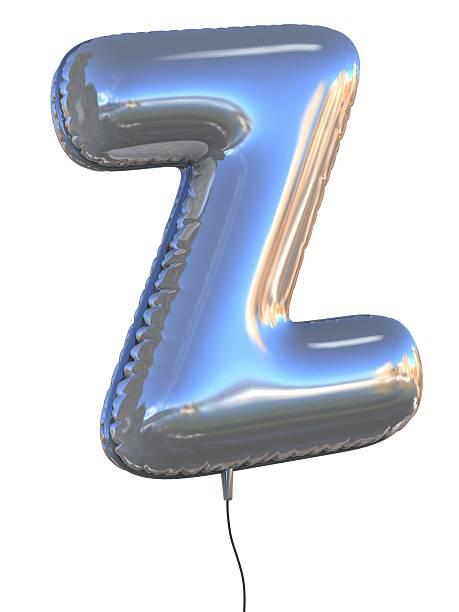 letter Z balloon font stock photo