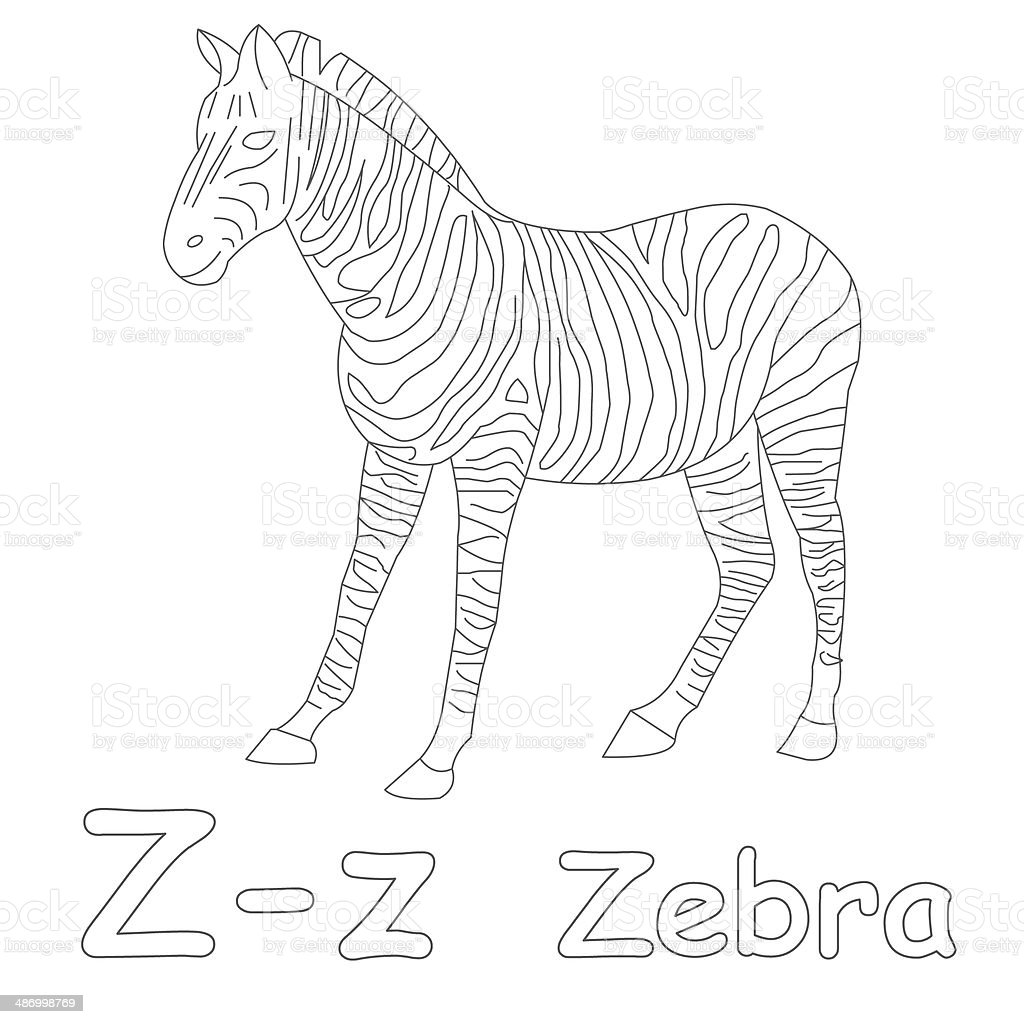 z is for zebra coloring pages - photo #13