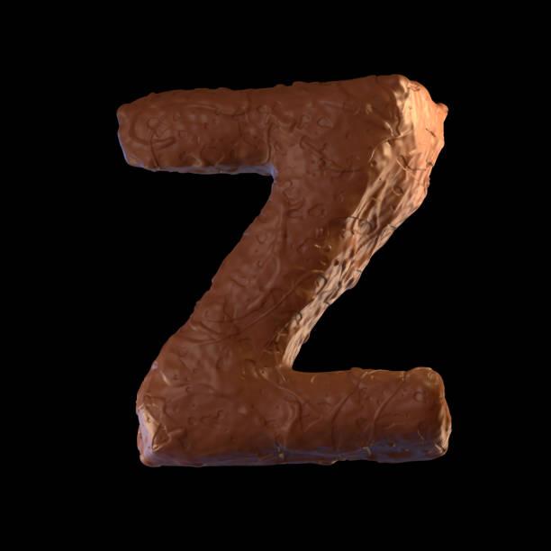 letter z - schokolade typografie stock-fotos und bilder