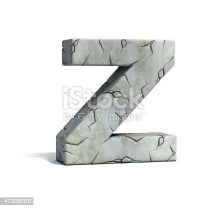 istock letter Z stone 3d font 472093107