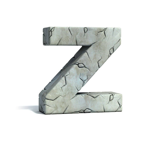 letter z stone 3d font - stone font stock photos and pictures