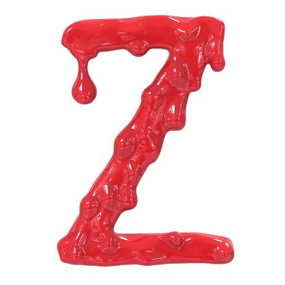 istock Letter Z.Bloody  english halloween alphabet.3D Rendering. 985635374