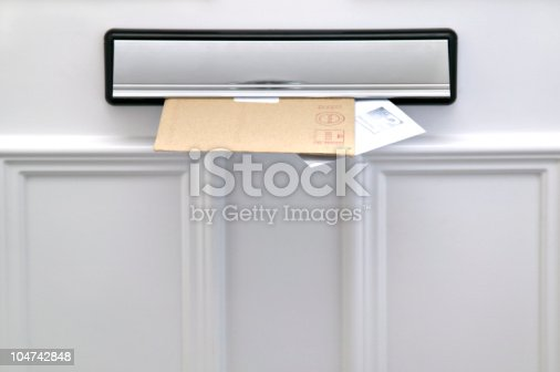 istock Letterbox and letters 104742848