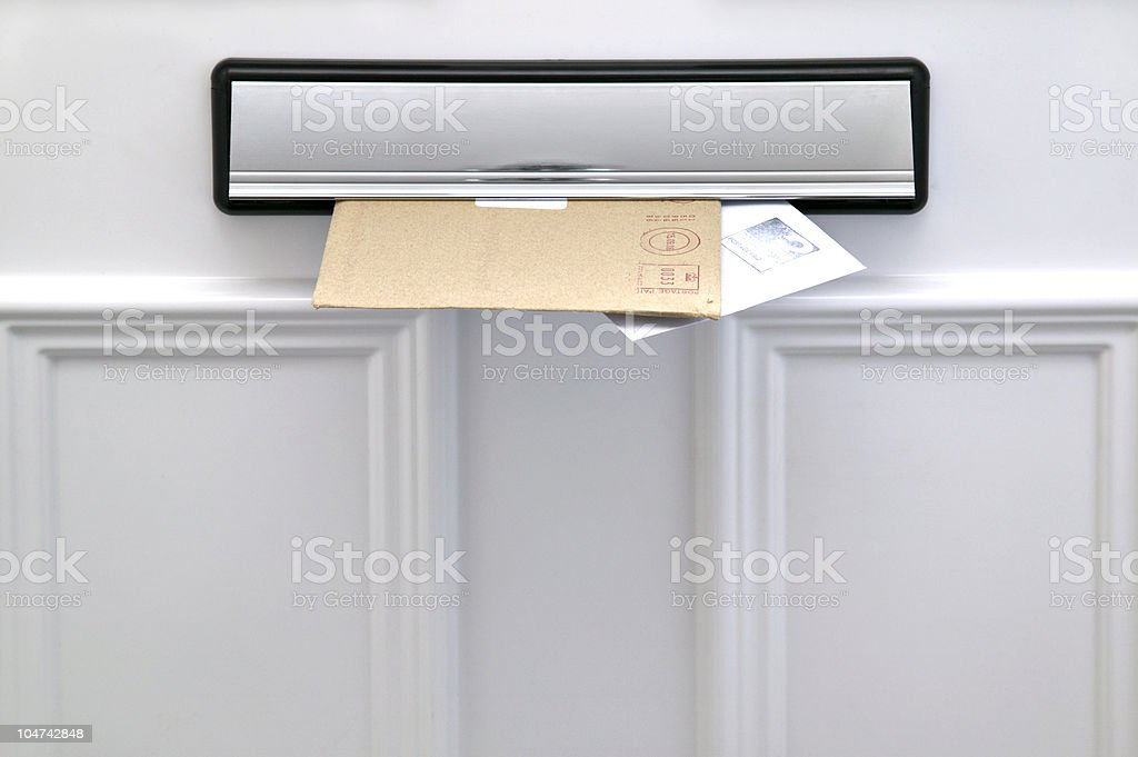 Letterbox and letters stock photo